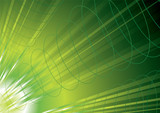 green energy inspired background with flowing waves of power poster