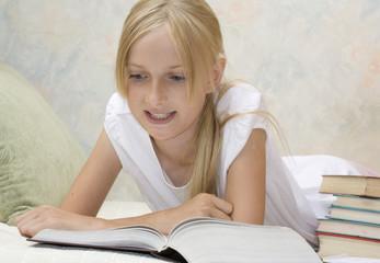 Teenager girl do her homework