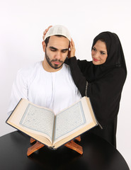 Wife Helps Hubby With His Prayer Cap