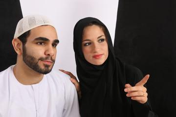 Arabian Wife Points Hubby To Look