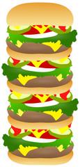 Hamburger dessin plusieurs étages