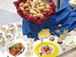 fisch,fleisch und meeresfrüchte, festtags büffet, vorspeisen