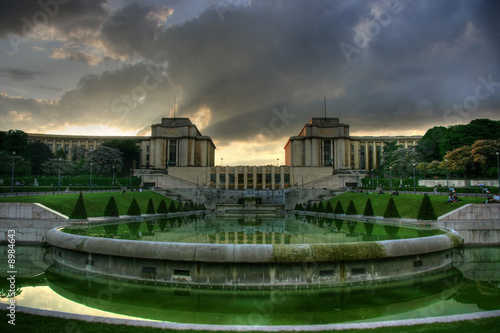 Paris, Trocadero at sunset. HDR image.
