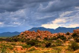 Stormy weather in Texas Canyon in Southeast Arizona poster