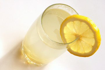 Hot drink with a lemon, ginger and honey
