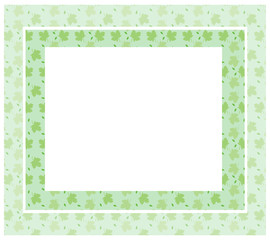 Mint Green Folage Frame - with isolated clipping area