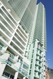 Modern condominium poster
