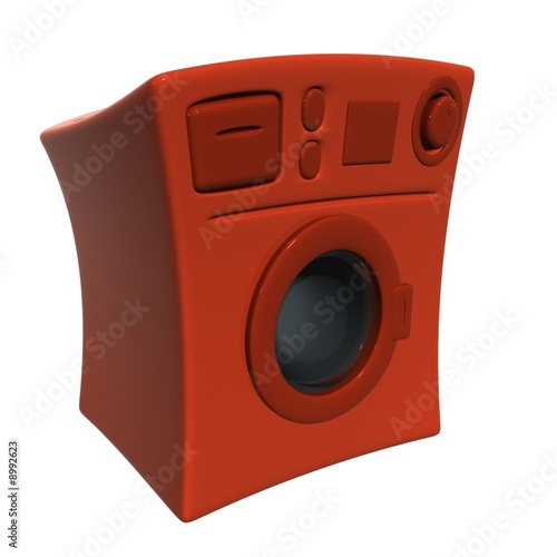 red clothes washer