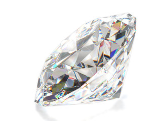Diamond isolated on white background. 3d render.