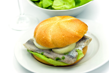 sandwich mit matjes filet-hering