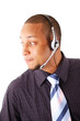 This is an image of a man with a microphone headset on.