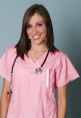 Attractive young nurse