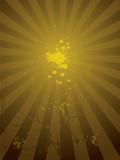 radiate golden poster