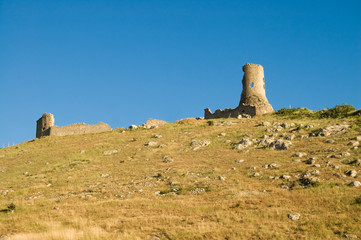Balaclavas castleon blue sky background
