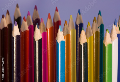 Coloring pencils in rows