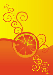 vector orange juice ornate illustration