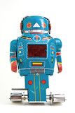 old robot toy poster