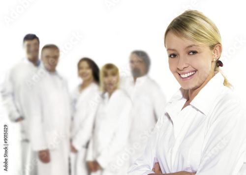 Fototapete Arzt - Krankenschwester - Gesundheitswesen - Wandtattoos - Fotoposter - Aufkleber