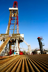 A land drilling rig in Shengli Oil Plant,CHN