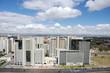 Immeubles modernes blancs de Brasilie, Brésil.