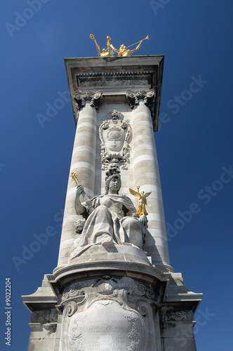 "Pillar of bridge ""Pont Alexandre III"", Paris"