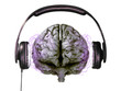 headphones on brain - 9022426