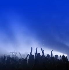 Konzert-Publikum mit freiem Raum