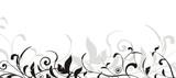 vecteur série - cadre vectoriel bordure florale