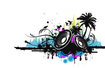 Flyer Music Illustration