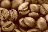 Macro picture with coffee grains.