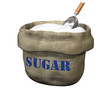 Isolated illustration of an open sack containing sugar