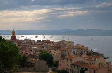 Saint Tropez horizon at summer evening, France