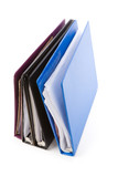 file folders, Ring Binder, with white background poster