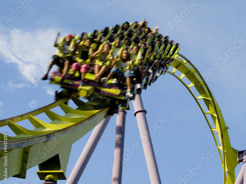 Roller Coaster Extreme Close up