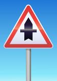 Intersection avec une route non prioritaire poster