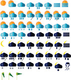 Weather icons for all seasons, day and night poster