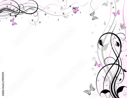 Leinwandbild Motiv Abstract floral background, element for design