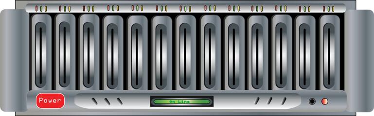 Vector Illustration of Computer Dsic Array
