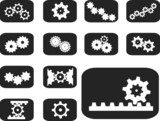 Set buttons. Gears
