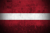 Weathered Flag Of Latvia, fabric textured.. poster
