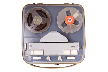 vintage device for playing sound, clipping path included