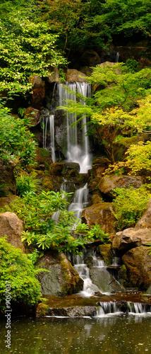 Japanese Gardens Waterfall in Portland Oregon - 9057037