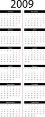 Calendário 2009 portugese