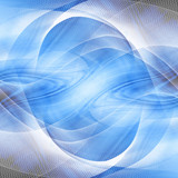 Blue abstract background with some smooth lines in it poster