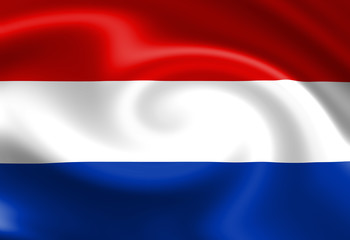 Dutch flag waving in the wind