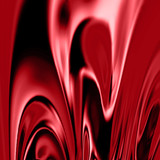 red drapes with some smooth lines in it poster