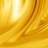 Yellow silk with some smooth lines in it poster