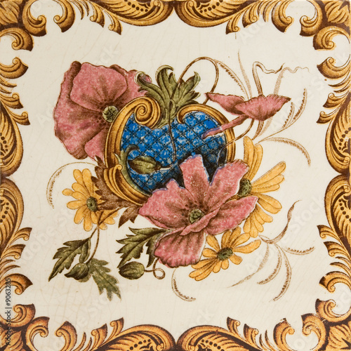 poster of An antique tile in the Aesthetic taste c1890