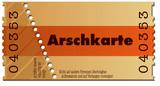 Fototapety Ticket-Arschkarte