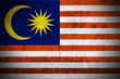 Weathered Flag Of Malaysia, fabric textured..